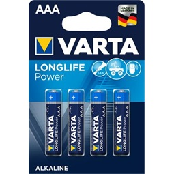 "Varta ""Longlife Power"" mikro elem (AAA) - 4db"